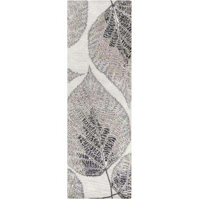 Androle Slate 2 ft. 6 in. x 8 ft. Indoor Rug Runner