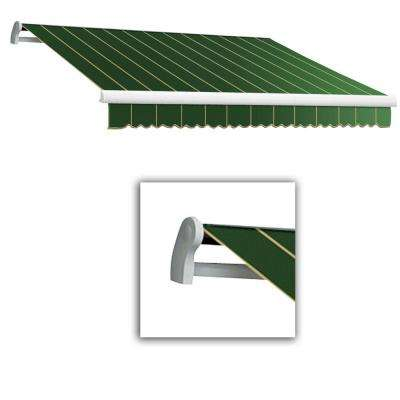 18 ft. LX-Maui Manual Retractable Acrylic Awning (120 in. Projection) in Forest Pin