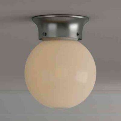 1-Light Globe Brushed Nickel Integrated LED Flush Mount