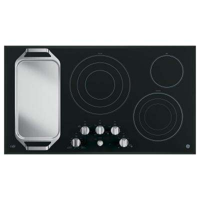 36 in. Radiant Electric Cooktop in Stainless Steel with 5 Elements including Tri-Ring Power Boil