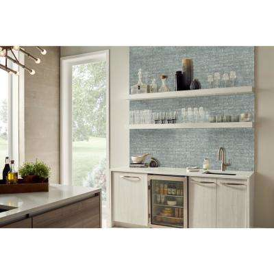 11.81 in. x 11.81 in. x 8mm Chilcott Bright Subway Textured Glass Mesh-Mounted Mosaic Tile (9.7 sq. ft. / case)