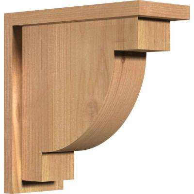 5-1/2 in. x 14 in. x 14 in. Western Red Cedar Alpine Smooth Corbel with Backplate