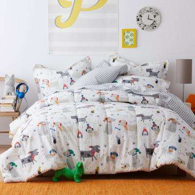 Playful Pups 200-Thread Count Cotton Percale Comforter