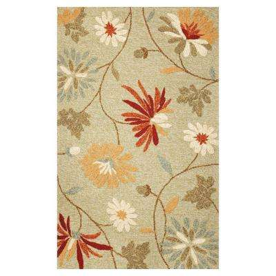 Playful Flowers Sage 5 ft. x 7 ft. 6 in. Area Rug