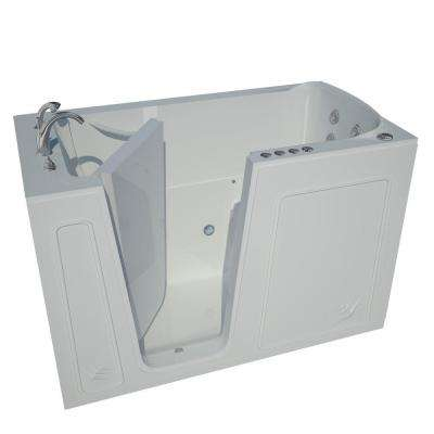 Nova Heated 5 ft. Walk-In Air and Whirlpool Jetted Tub in White with Chrome Trim