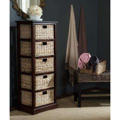 Vedette 46.1 in. H x 17.3 in. W 5-Drawer Chest in Cherry