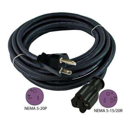 25 ft. 12/3 20 Amp NEMA 5-20 Anti-Cold Weather Oils, Acids and Chemicals Rubber Extension Cord