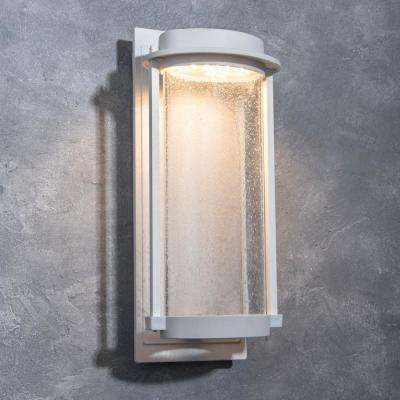 Coastal Newport White Outdoor Integrated LED Wall Mount Sconce