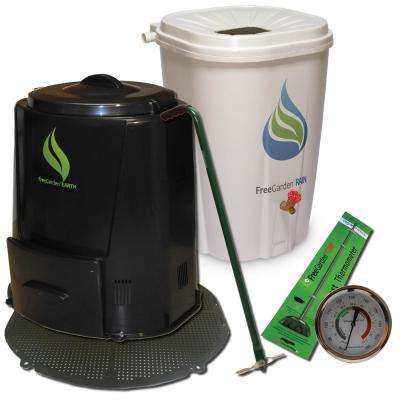 Rain Barrel, Compost Bin and Accessories Combo