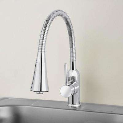 Bodell Single-Handle Pulldown Laundry Faucet in Chrome