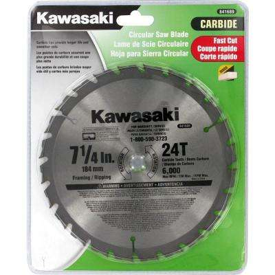 7-1/4 in. 24 Tooth Circular Saw Blade