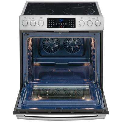 IQ Touch 4.6 cu. ft. Electric Range with Front Controls, Self-Cleaning Convection Oven in Stainless Steel