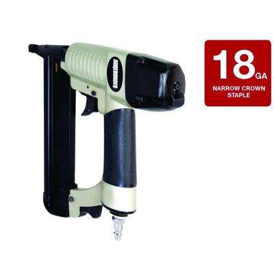 Pneumatic 1/4 in. x 18-Gauge Crown 1-9/16 in. Staple Gun with Carrying Case