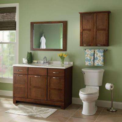 Casual 48 in. W x 21 in. D x 33.5 in. H Bathroom Vanity Cabinet Only in Cognac