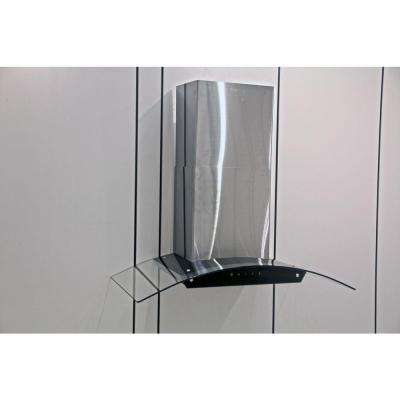 Touch Screen 36 in. Wall Mount Decorative Range Hood in Stainless Steel