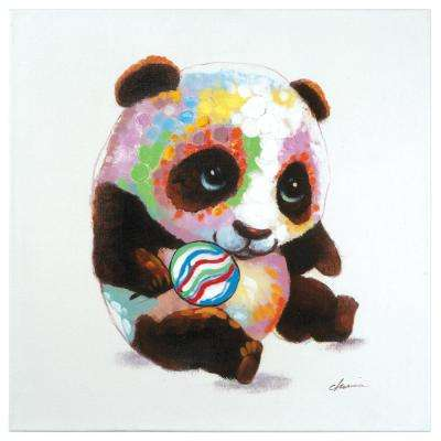 "24 in. H x 24 in. W ""Panda Color"" Artwork in Acrylic Canvas Wall Art"