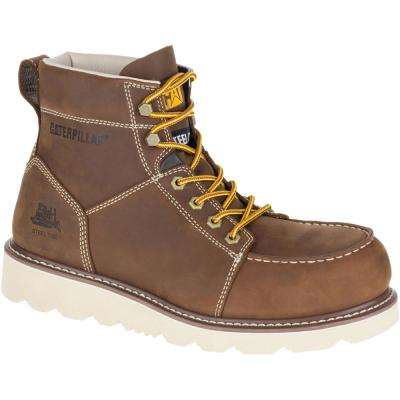 Tradesman Men's Chocolate Brown Steel Toe Work Boots