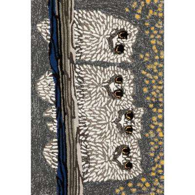 Woodside Prey of Night Black 1 ft. 8 in. x 2 ft. 6 in. Rectangle Indoor/Outdoor Accent Rug