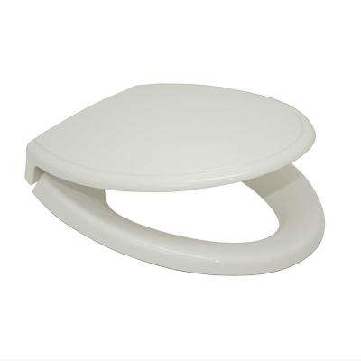 Elongated Closed Front Toilet Seat in Colonial White