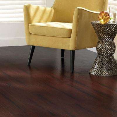 Hand Scraped Strand Woven Bamboo Cherry Sangria 7 in. x 48 in. x 3.2 mm Vinyl Plank Flooring (28 sq. ft. / case)