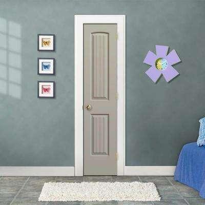 18 in. x 80 in. Santa Fe Desert Sand Painted Left-Hand Smooth Molded Composite MDF Single Prehung Interior Door
