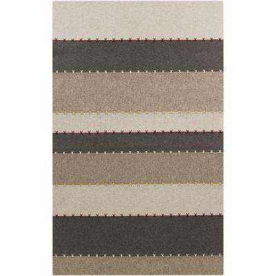Lachlan Charcoal 3 ft. 3 in. x 5 ft. 3 in. Indoor Area Rug