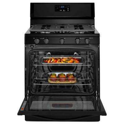 5.1 cu. ft. Gas Range in Black