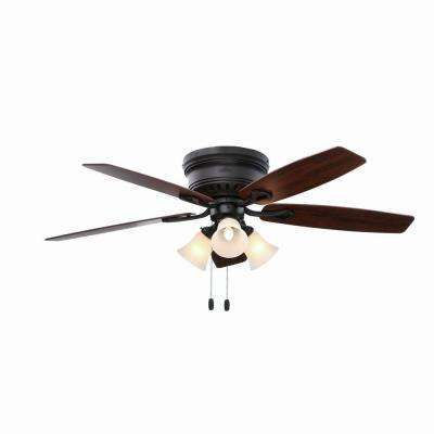 Oakhurst 52 in. New Bronze Indoor Ceiling Fan with Flushmount