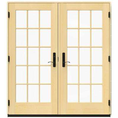 71.25 in. x 79.5 in. W-4500 French Vanilla Right Hand Inswing French Wood Patio Door