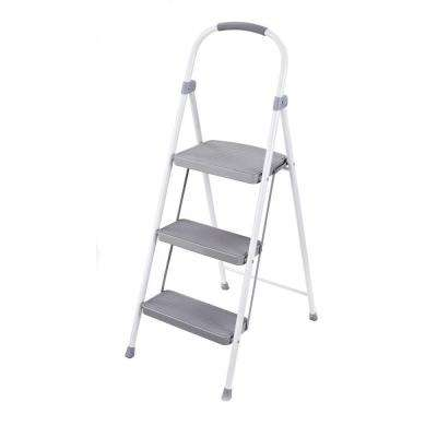 3-Step Steel Step Stool with 225 lb. Load Capacity Type II Duty Rating