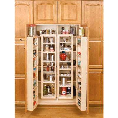 57 in. H x 12 in. W x 7.5 in. D Wood Swing-Out Cabinet Pantry Kit