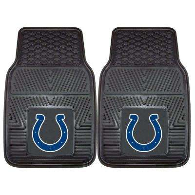 Indianapolis Colts 18 in. x 27 in. 2-Piece Heavy Duty Vinyl Car Mat