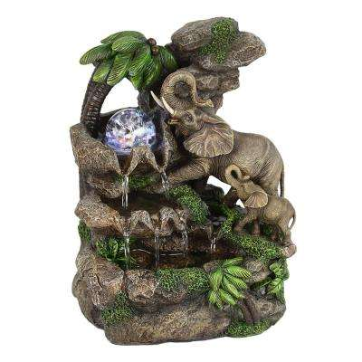 11 in. Elephant Table Fountain