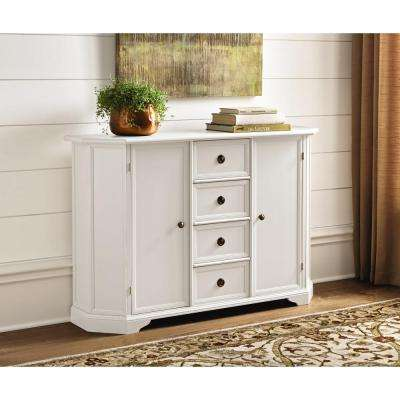 Caley 4-Drawer Sideboard in Antique White
