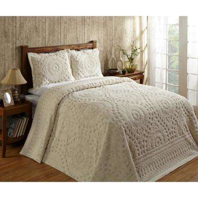 Rio Chenille Collection Floral 120-Thread Count Cotton Coverlet