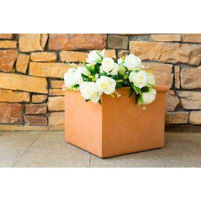 Small 11.8 in. Tall Terracota Lightweight Concrete Classic Square Planter