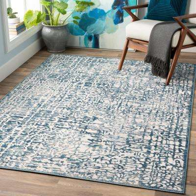 Reyna Blue 7 ft. 10 in. x 10 ft. 3 in. Abstract Area Rug