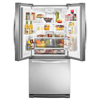 30 in. W 19.7 cu. ft. French Door Refrigerator in Monochromatic Stainless Steel