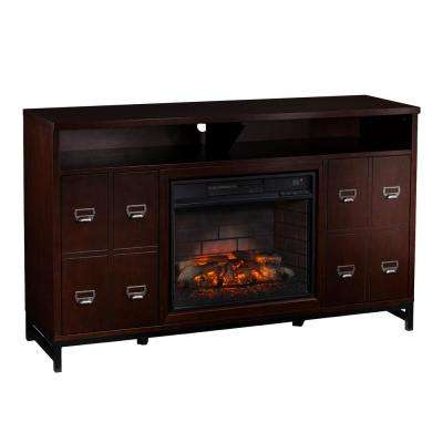 Clarksburg 58 in. W Infrared Electric Fireplace Media Stand in Espresso