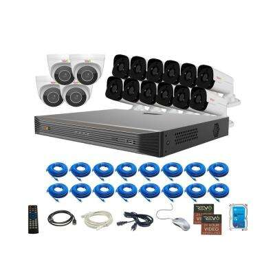 Ultra HD Audio Capable 16-Channel 4TB NVR Surveillance System with Sixteen 4 Megapixel Cameras