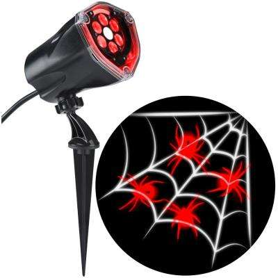 LED Projection Plus Whirl-A-Motion Static Red Spider with White Web