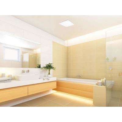 100 CFM Integrity Ceiling Mount Bathroom Exhaust Fan with Edge-Lit Dimmable LED Light