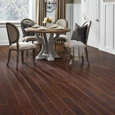 Hand Scraped Canyon Grenadillo 8 mm Thick x 5-9/16 in. Wide x 47-3/4 in. Length Laminate Flooring (18.45 sq. ft. / case)