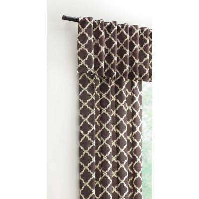 15 in. L Polyester and Cotton Valance in Brown