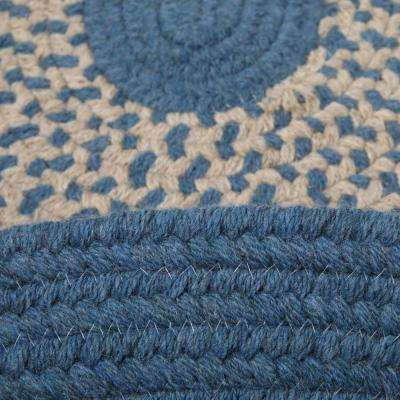 Portland Federal Blue 3 ft. x 5 ft. Oval Braided Area Rug