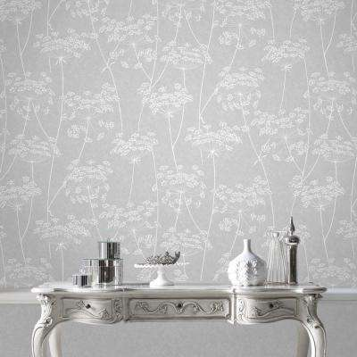 Aura Gray Vinyl Strippable Wallpaper (Covers 56 sq. ft.)