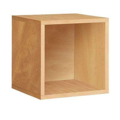 Blox System 14.8 in. x 14.8 in. Stackable Large Storage Cube Organizer in Natural Wood Grain