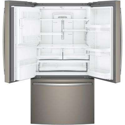 Adora 36 in. W 27.7 cu. ft. French Door Refrigerator in Slate with Hands Free Autofill and Fingerprint Resistant