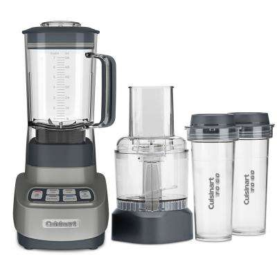 Velocity Ultra Trio 1 HP Blender and Food Processor with Travel Cups Gun Metal