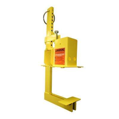 1 Unit Yellow OSHA Compliant Non-Penetrating Stair Rail or Guardrail Clamp